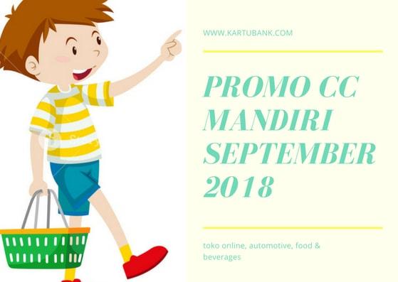 Promo Kartu Kredit Mandiri  September 2018