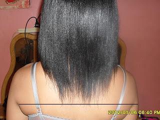 caring hair shoulder