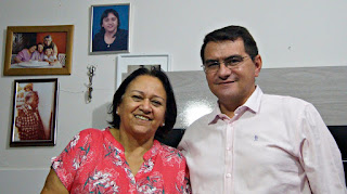 Fátima Bezerra visita Nova Palmeira e recebe o único prefeito do PT da PB