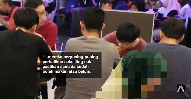 Perbuatan 5 remaja Cina menunggu waktu berbuka dipuji Netizen