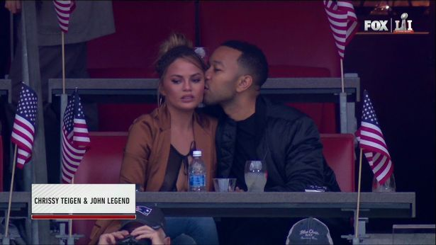 Chrissy Teigen Nip Slip Caught On Camera At Super Bowl