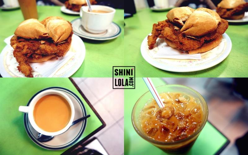 Pork Chop Bun @ Seng Lei Restaurant