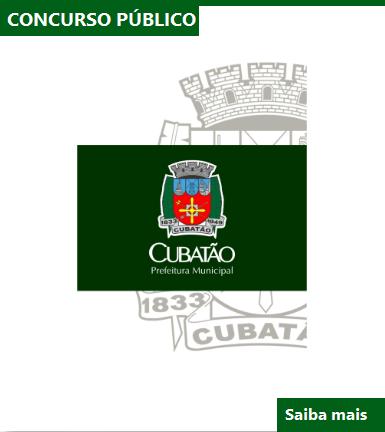 Prefeitura de Cubatão-SP publica edital Concurso público 02/2016