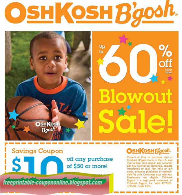 image regarding Oshkosh Printable Coupon identify Osh kosh printable coupon