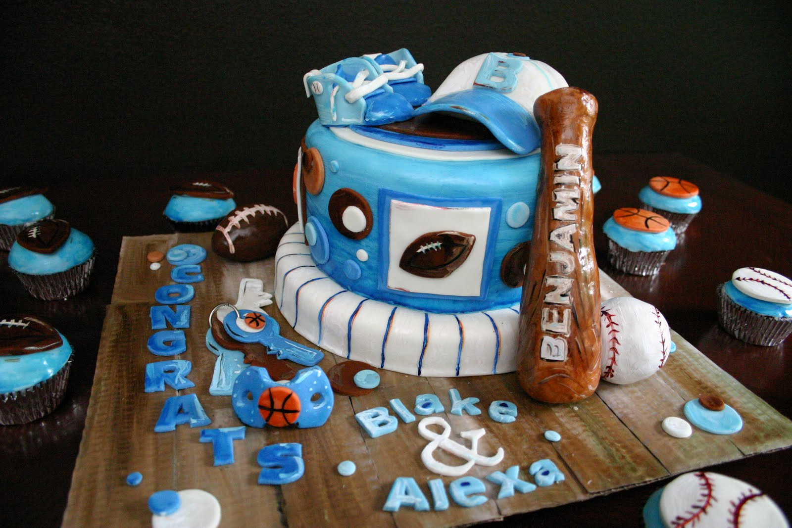 Picture Perfect Cakes: Sports Themed Baby Shower Cake