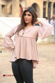 Telugu Actress Aditi Singh Stills in Leather Pants at Nenu Kidnap Iyanu Movie Press Meet  0051.JPG