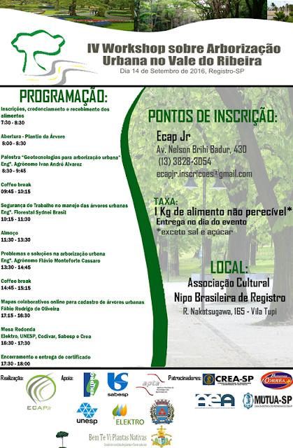 IV Workshop sobre Arborização Urbana no Vale do Ribeira