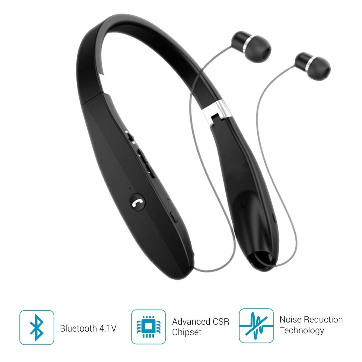 2daffd51eb7 Portronics Harmonic 200 POR-927 Wireless Stereo Headset (Black ...