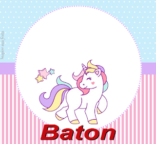 Unicorn: Free Printable Cards, Invitations and Candy Bar Labels for a Birthday Party.
