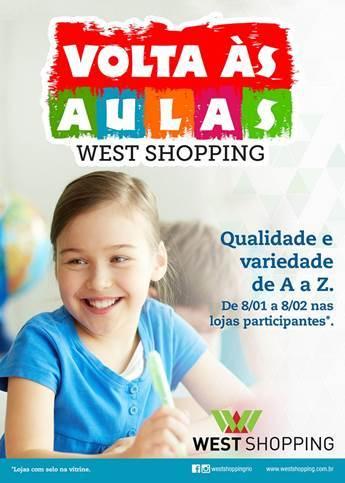West Shopping realiza campanha especial para o 'Volta às Aulas'