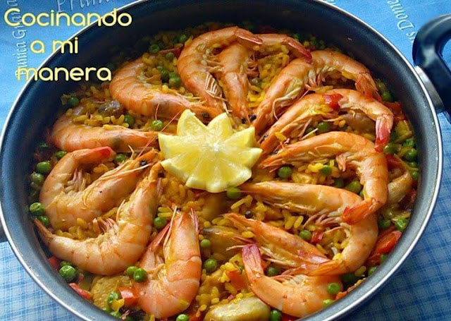 Arroz de domingo tierra y mar