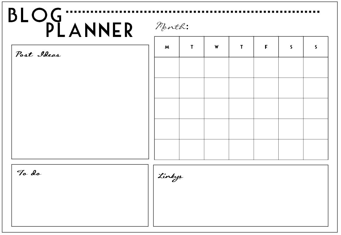 Blog Planner Printable