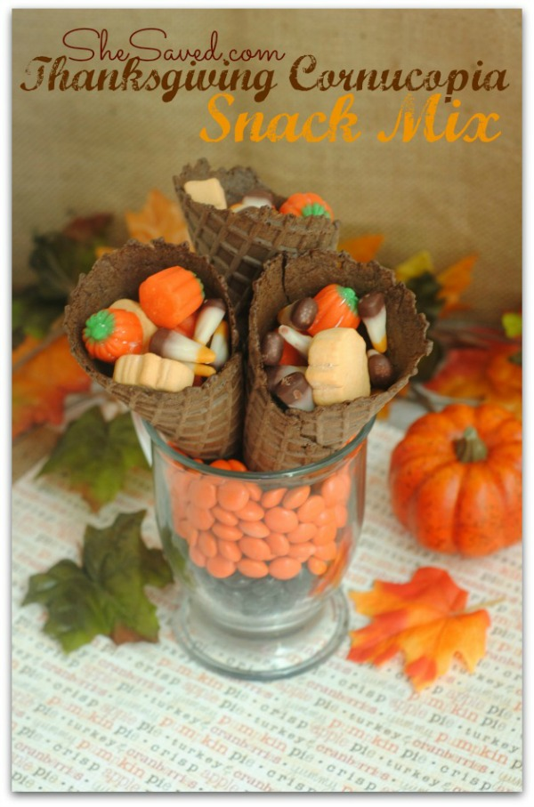 Thanksgiving Cornucopia Snack Mix from She Saved