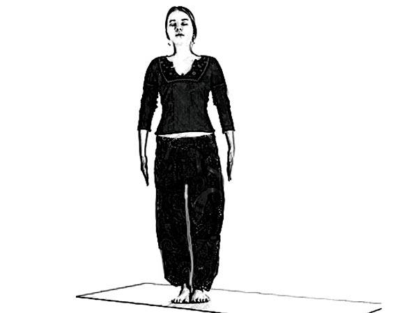 latihan senam yoga asana posisi berdiri