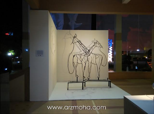 pameran seni sempena georgetown festival di dewan sri pinang, zirafah, pameran seni, kreatif, arca,