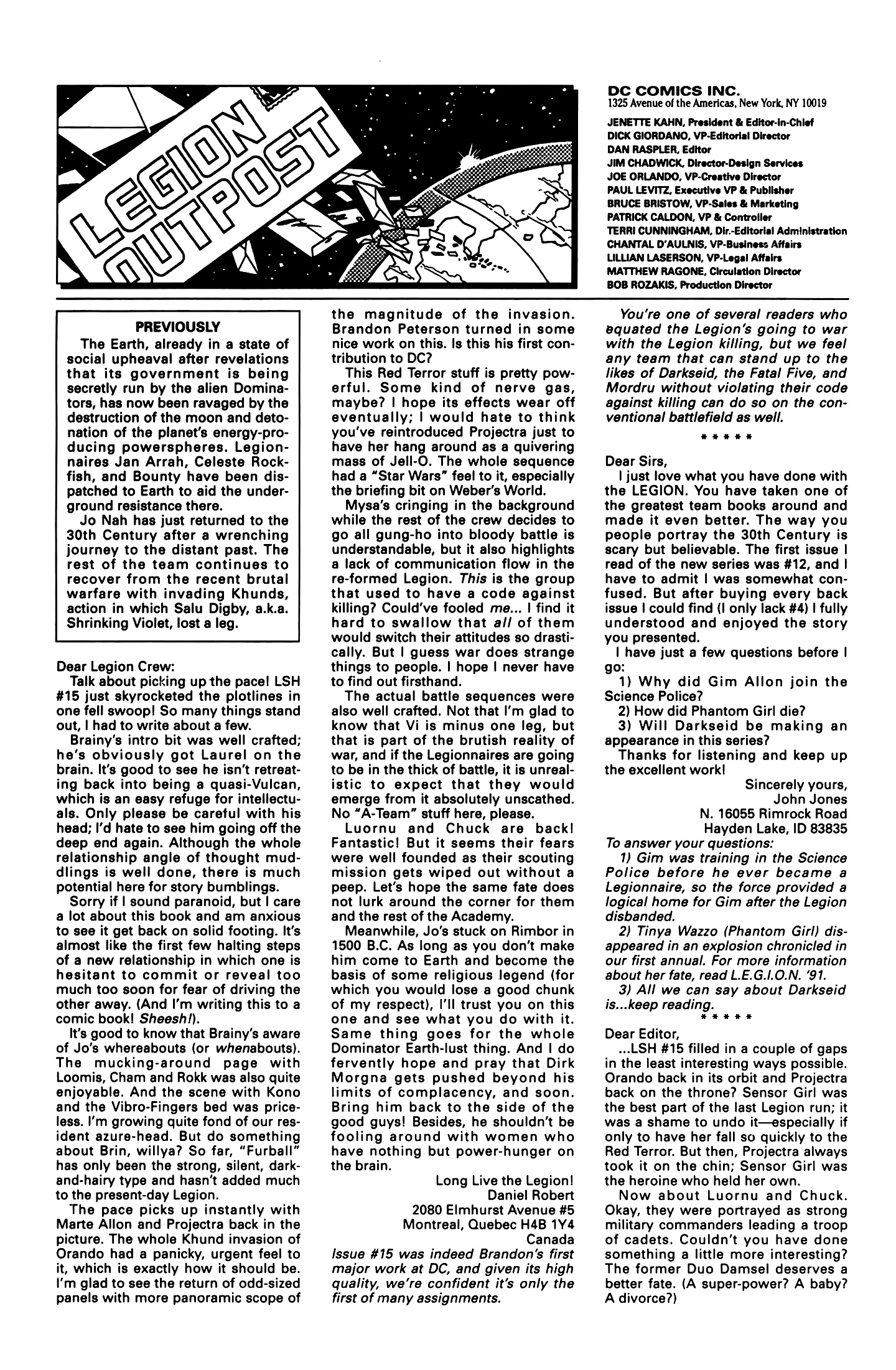 Legion of Super-Heroes (1989) 20 Page 25