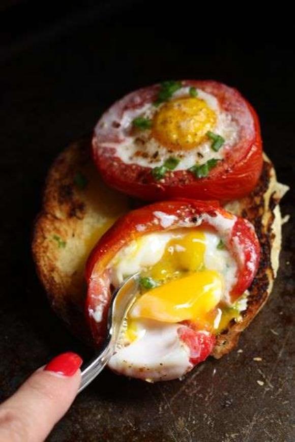 Tomates Horneados Rellenos De Huevo