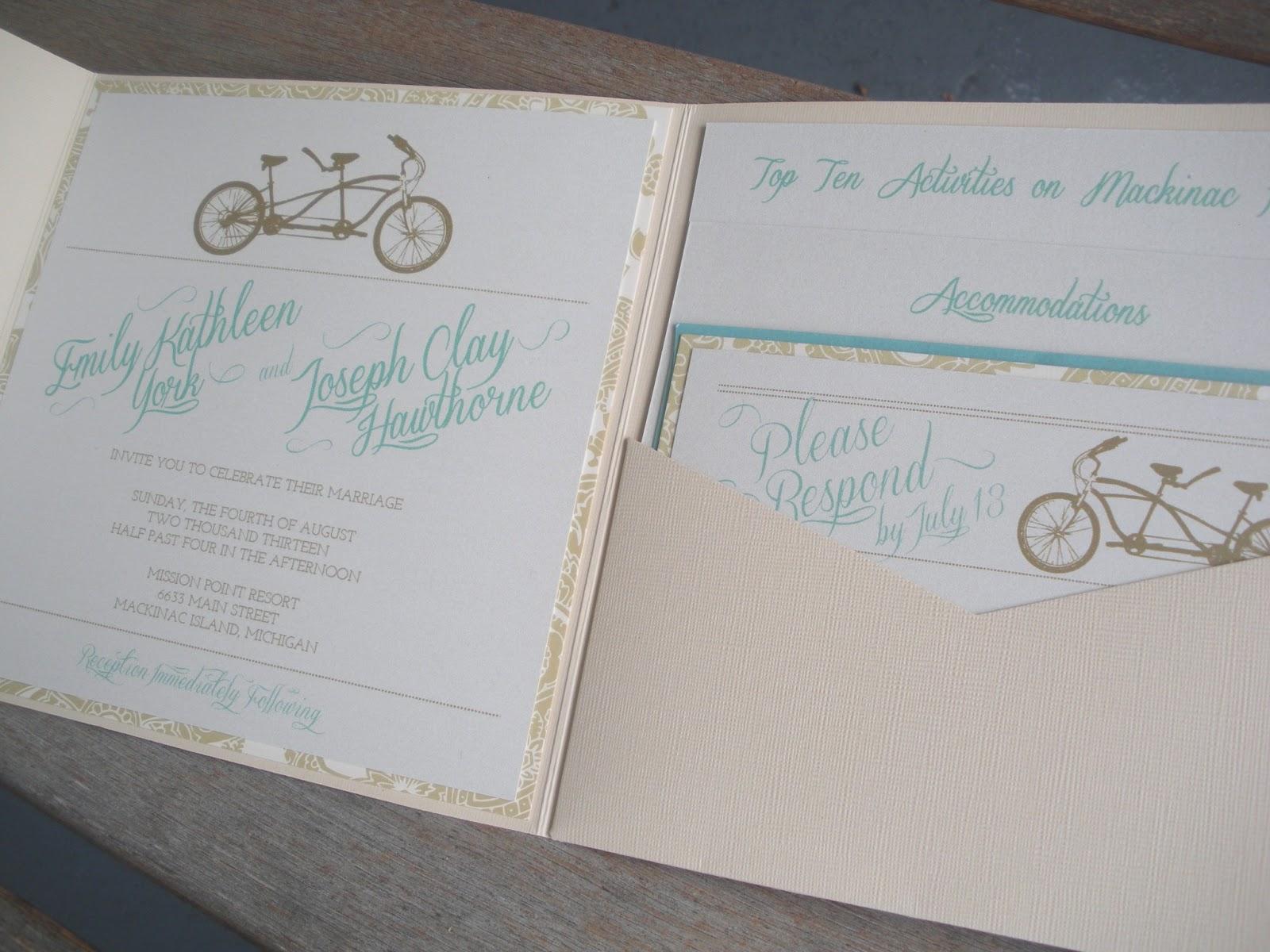 Top Rated Wedding Invitations: Vivian Elle Invitations: Emily And Joseph's Mackinac