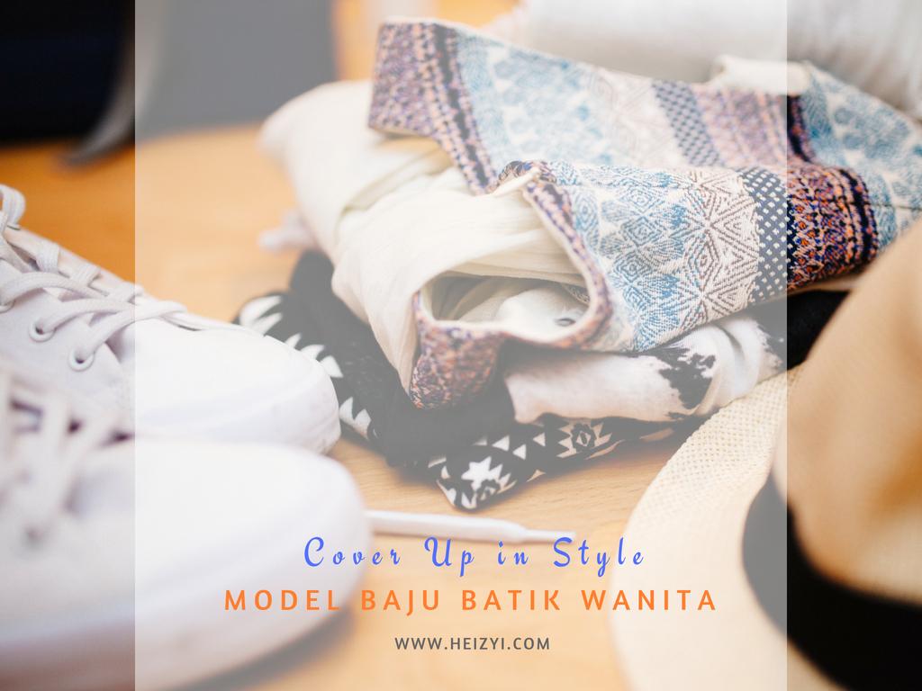 40 Desain Baju Batik Wanita Gemuk   Desaprojek