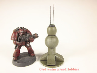 T1553 field cummunications node for 25-28mm scale miniature wargames - rear view.