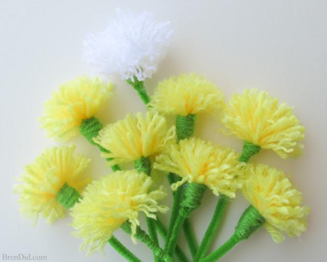 pretty diy tassel dandelions