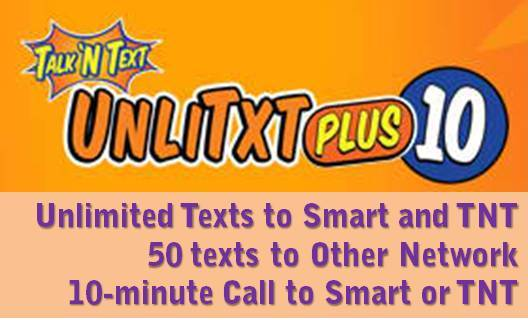UnlitxtPlus10 call texts