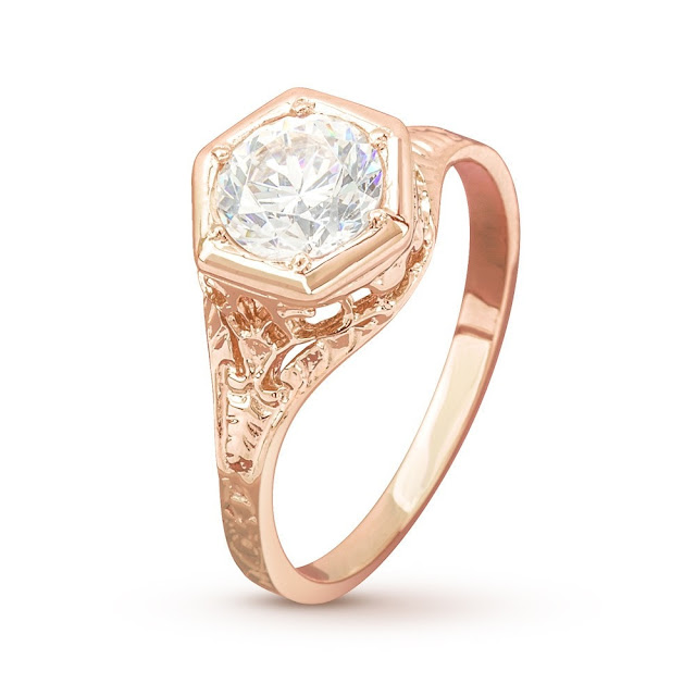 Antique Rose Gold Wedding Ring