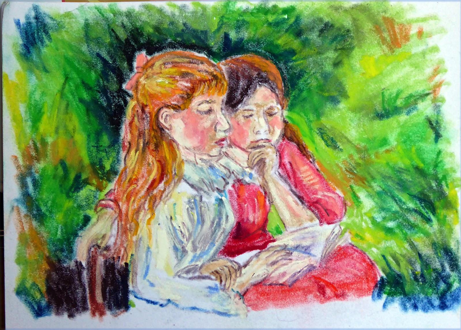 Art de vivre la peinture de peintrefiguratif croquis pastel gras au louvre for Peinture pastel gras