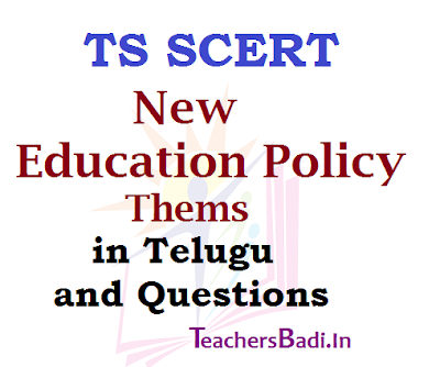 TS SCERT,New Education Policy Themes,Booklet