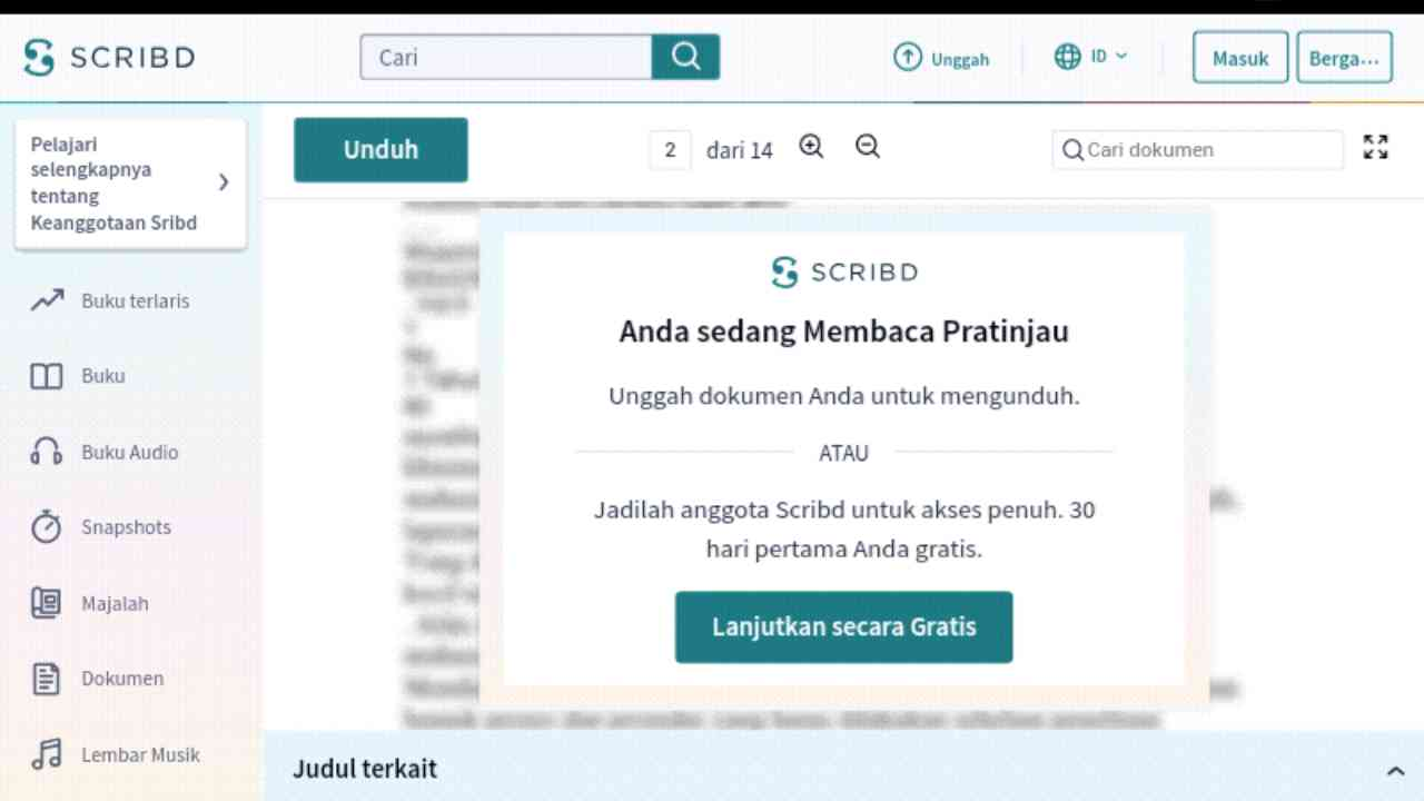 Cara Download dokumen di Academia, Scribd, Slideshare tanpa Login