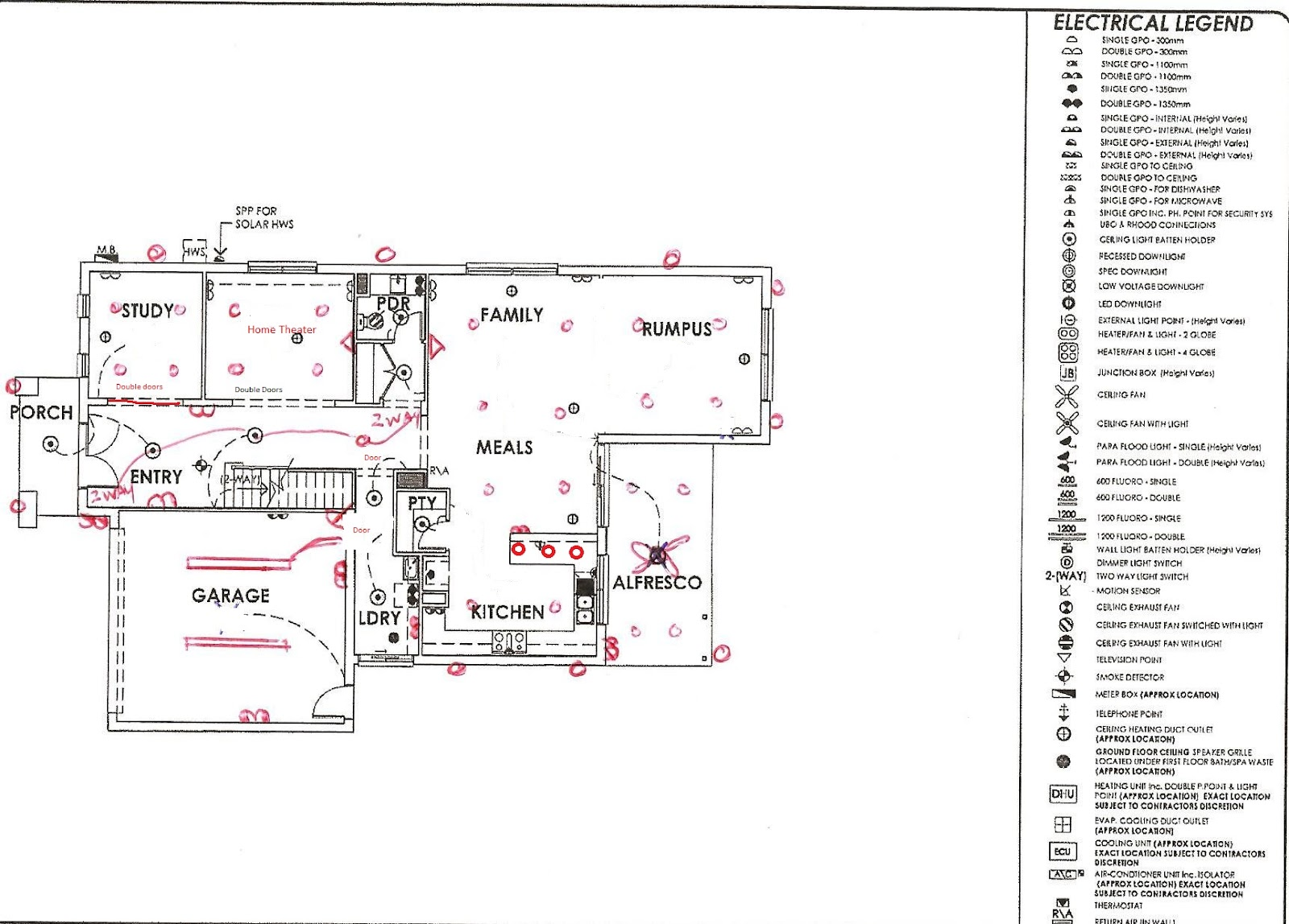 small resolution of downstairs electrical plan