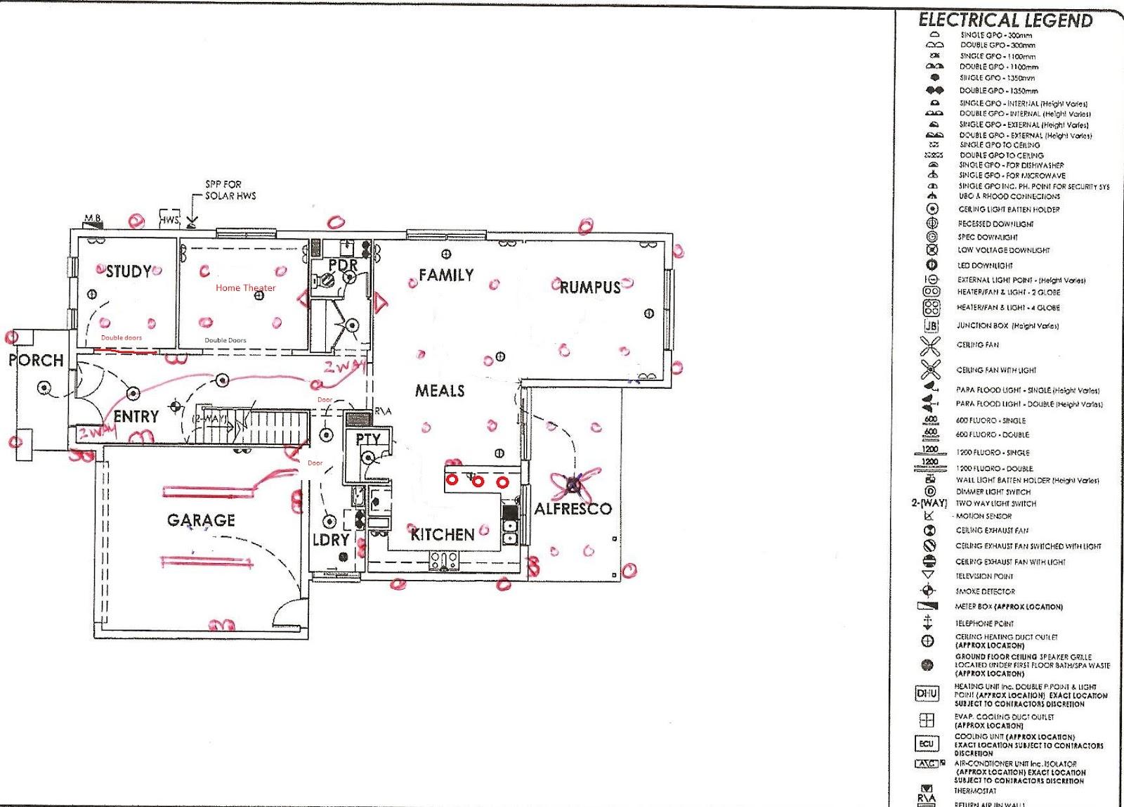 downstairs electrical plan [ 1600 x 1148 Pixel ]