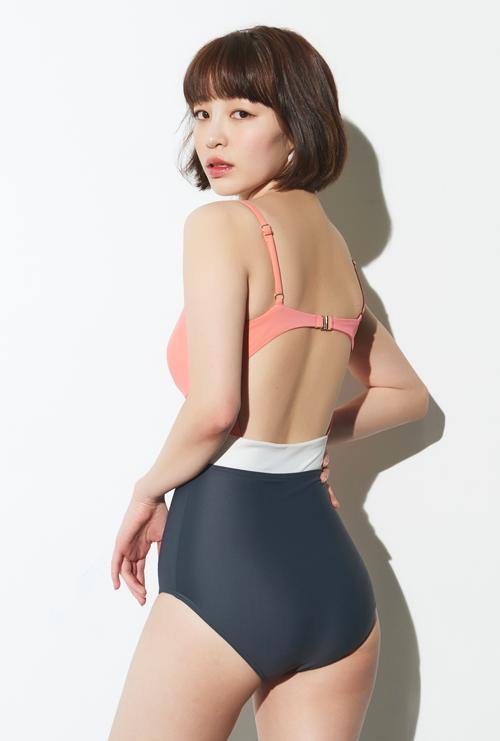 Colorblock Cutout One Piece Swimsuit