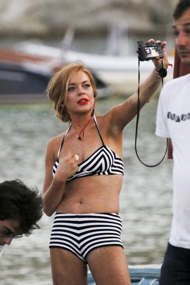 Lindsay Lohan in Beach