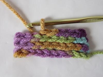 crochet, slip stitch, how to