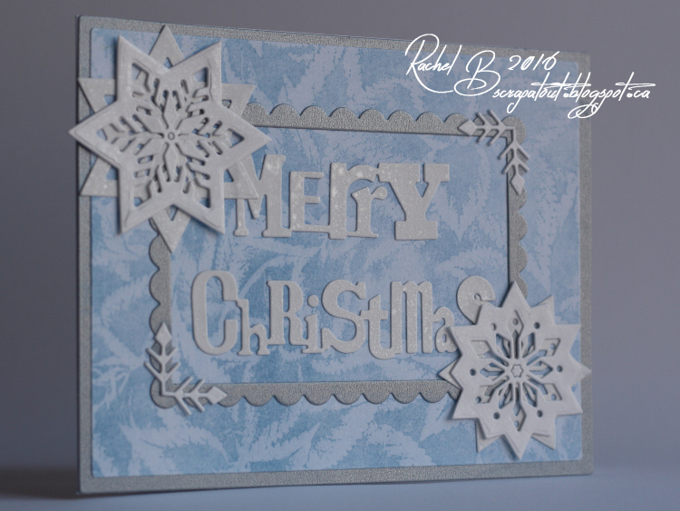 Scrapatout - Handmade card, Impression Obsession, Christmas, Poinsettias,Snowflakes