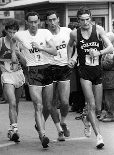 The brothers - Maurizio is wearing number one in this picture - often raced each other