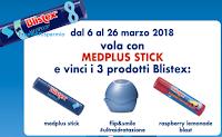 Logo Gioca e vinci gratis con Blistex un kit composto da 3 prodotti