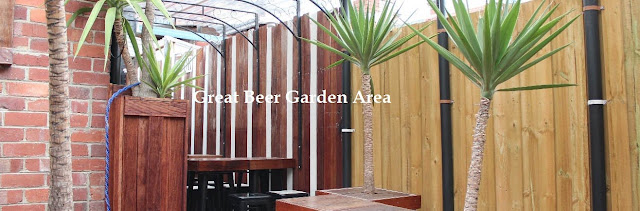 Great beer garden Area