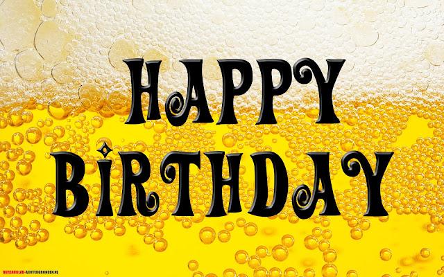 Verjaardagskaart man met bier