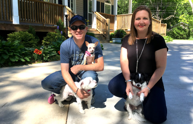 Chuck and LInda, with Bella, Lily, and Domino visit for the fifth time and help us celebrate our 2nd anniversary.
