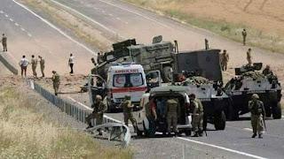 Τουρκία: Επίθεση Κούρδων ανταρτών του ΡΚΚ κατά τουρκικής φάλαγγας