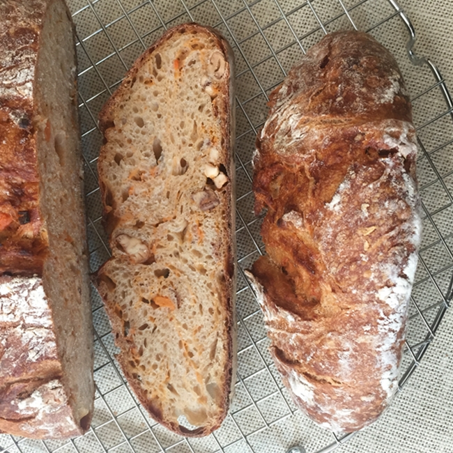 Pan de boniato con castañas