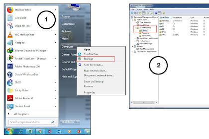 Cara Stop Shared / Sharing Folder di Windows 7