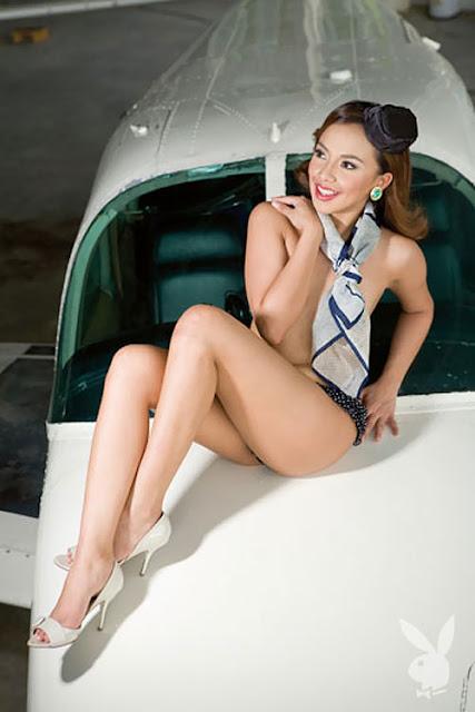 Former flight attendant as Playboy Philippines Miss May 2009  World stewardess Crews