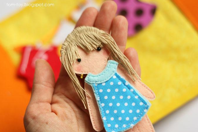 Quiet book for Madison - children's activity fabric busy book, felt doll, развивающая книжка, кукла из фетра