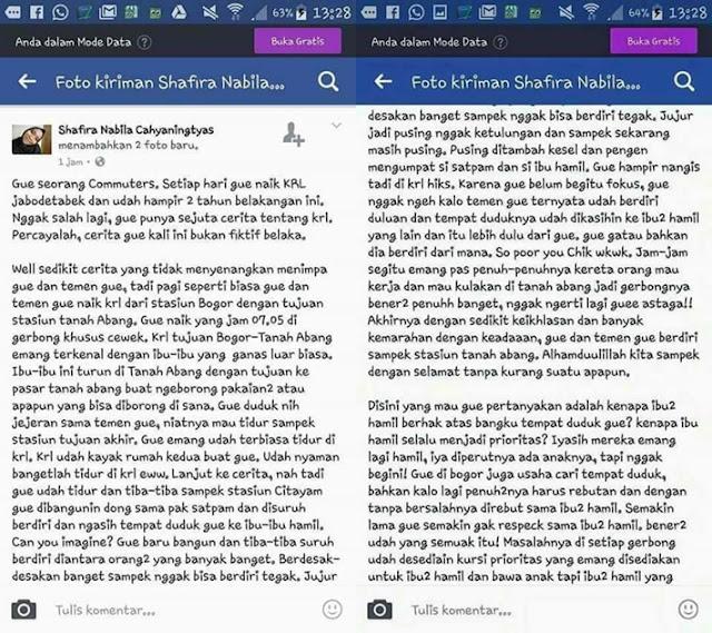 Curhat Soal Bangku Untuk Ibu Hamil, Seorang Mahasiswi Dihujat Netizen