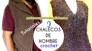 Cómo Tejer Chalecos para Hombre / 2 Tutoriales Crochet