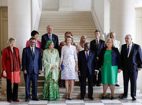 """Queen Mathilde held a lunch at Laken Royal Palace for the participants of the """"European Development Days"""""""