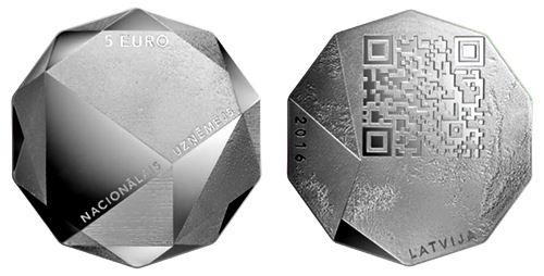 QR code coin